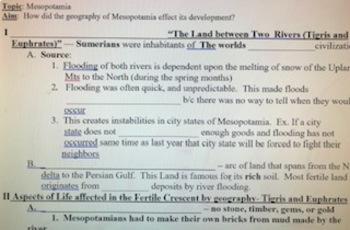 Mesopotamia Geography Lesson