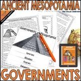 Ancient Mesopotamia Activities   Mesopotamia Governments  
