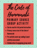 The Code of Hammurabi: Primary Source Group Activity