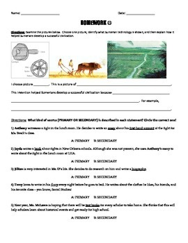Mesopotamia Homework (2)