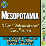 "Mesopotamia ""I Can"" Statements & Learning Goals! Measure Mesopotamia Goals!"
