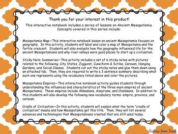 Mesopotamia Interactive Notebook Bundle