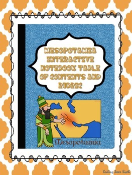 Mesopotamia Interactive Notebook Table of Contents and Rubric