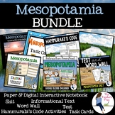 Mesopotamia Interactive Notebook and Task Cards Bundle