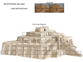 Mesopotamia: Large Building Game Board