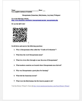 Mesopotamia Lesson Plan Collection