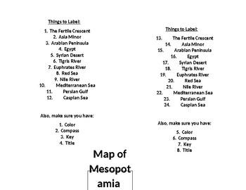 Mesopotamia Map by ancientcivilizations6 | Teachers Pay Teachers