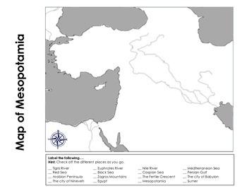 Mesopotamia Map Activity