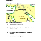 Mesopotamia Map/ Fertile Crescent Map Activity