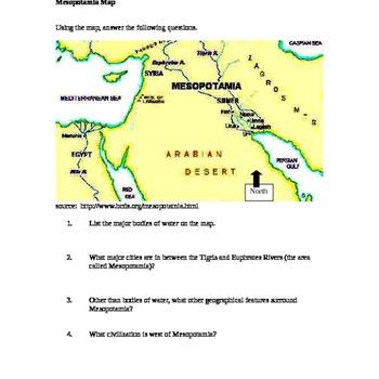 Mesopotamia Map/ Fertile Crescent Map Activity on sargon of akkad, israel map, ethiopia map, the fertile cresent map, west bank map, mesopotamian map, arabian sea map, mediterranean sea map, egypt map, sumer map, arabian desert map, epic of gilgamesh, dead sea map, levant map, black sea map, persian gulf map, gaza strip map, cradle of civilization, arabian peninsula map, neolithic revolution, elburz mountains map, zagros mountains map, zagros mountains, sahara map, ancient mesopotamia map,