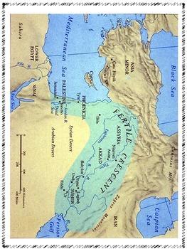 Mesopotamia Map - Interactive Notebook Activity