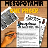 Mesopotamia One Pager Activity