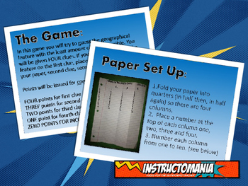 Mesopotamia Physical Geography Class GAME: World Scavenger Hunt Activity