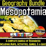 Mesopotamia Physical Geography Bundle Map Activities & Qui