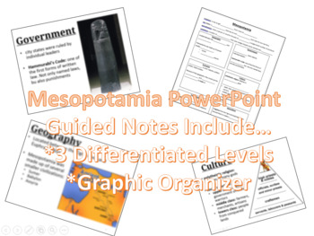 Mesopotamia Powerpoint with Guided Notes