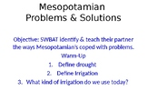 Mesopotamia Problems and Solutions (Powerpoint)