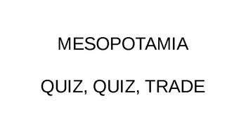 Mesopotamia Quiz, Quiz, Trade