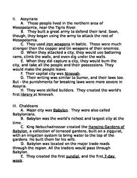 Mesopotamia Study Guide