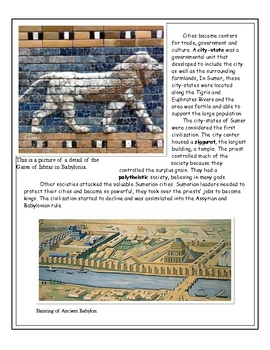 Mesopotamia: Sumer- The First City-State by Don Nelson