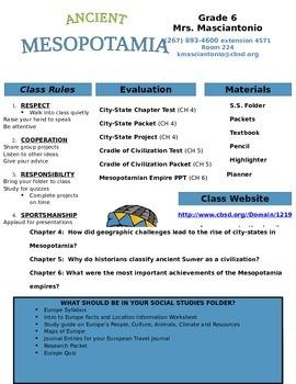Mesopotamia Syllabus