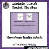 Mesopotamia Timeline Research & Report Activity Ancient River Civilizations