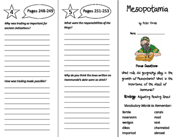 Mesopotamia Trifold - Imagine It 6th Grade Unit 2 Week 5