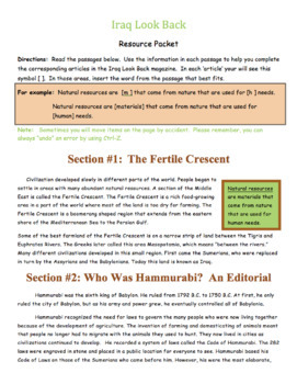 Mesopotamia Unit - Project Based Learning (Editable)