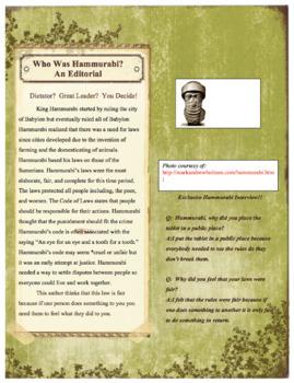 Mesopotamia Unit - Project Based Learning (Editable)