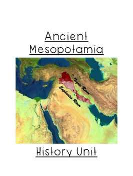 Mesopotamia Unit Study