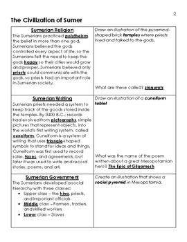 Mesopotamia Unit, Teacher Key - 6th Grade Social Studies