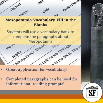 Mesopotamia-Vocabulary Fill in the Blanks