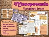 Mesopotamia Vocabulary Lesson