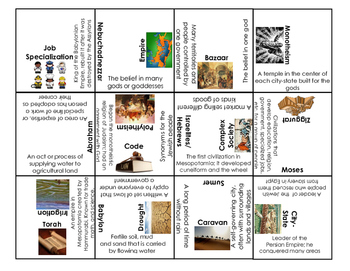Mesopotamia Vocabulary, People, Places Puzzle