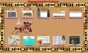 Mesopotamia Vocabulary Terms Games in PDF - Bill Burton