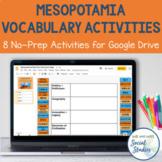 Mesopotamia Vocabulary Worksheet