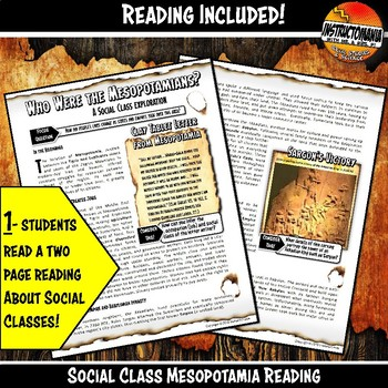 Mesopotamia What's Your Destiny Close Reading & Fun Reading Comprehension Game