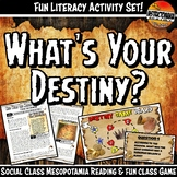 Mesopotamia What's Your Destiny Close Reading & Fun Readin