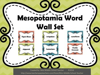 Ancient Mesopotamia Word Wall Set