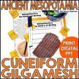 Ancient Mesopotamia Cuneiform Writing   Gilgamesh Activity
