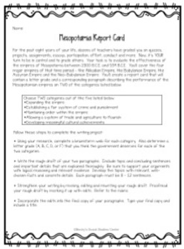 Mesopotamia Writing Project - Evaluate the Effectiveness of the Empires
