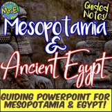 Mesopotamia & Ancient Egypt Notes: Guided Notes & PPT on Sumer, Babylon, Egypt!
