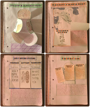 Mesopotamia and Ancient Egypt Interactive Notebook