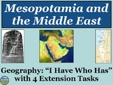 Mesopotamia and the Middle East Review Game: I Have Who Has