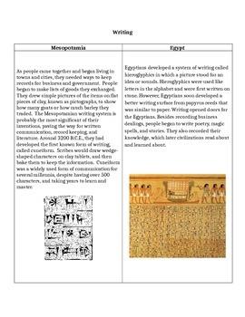 Mesopotamia vs. Egyptian Achievements