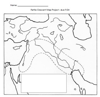 Mesopotamia/Fertile Crescent Map Project by Mrs Urbans Workshop | TpT