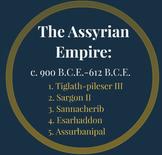 Mesopotamian Empires- Assyrian, Babylonian, Akkadian, Code of Hammurabi