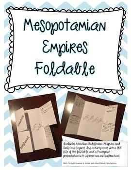 Mesopotamian Empires Foldable
