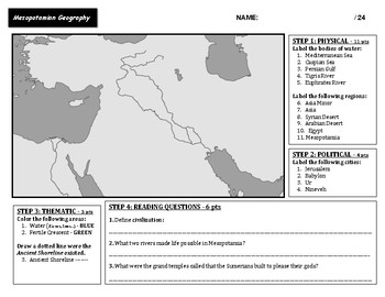 Mesopotamian Geography - Mapping Exercise