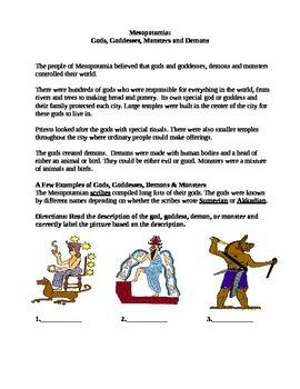 Mesopotamian Gods Creation Myth Multiple Choice