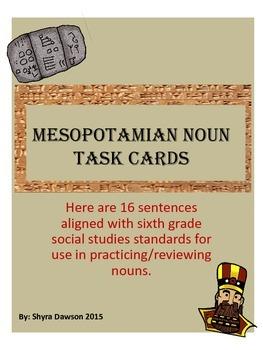 Mesopotamian Noun Task Cards
